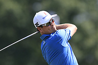 Zach Johnson (USA) tees off the 1st tee to start Saturday's Round 3 of the 2017 PGA Championship held at Quail Hollow Golf Club, Charlotte, North Carolina, USA. 12th August 2017.<br /> Picture: Eoin Clarke | Golffile<br /> <br /> <br /> All photos usage must carry mandatory copyright credit (&copy; Golffile | Eoin Clarke)