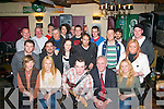 HAPPY 21ST: Fergal Keane, Ardfert (seated centre) who had great fun celebrating his 21st birthday last Friday night in the Greyhound bar, Pembroke St, Tralee with his dad Kieran and many friends and family.