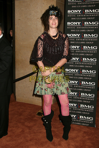 IMOGEN HEAP.Clive Davis 2007 Pre-Grammy Awards Party at the Beverly Hilton Hotel, Beverly Hills, USA..February 10th, 2007.full length pink tights black boots top green floral print skirt .CAP/ADM/BP.©Byron Purvis/AdMedia/Capital Pictures