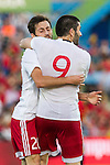 Georgia's Dvalishvili and Jigauri during the up match between Spain and Georgia before the Uefa Euro 2016.  Jun 07,2016. (ALTERPHOTOS/Rodrigo Jimenez)