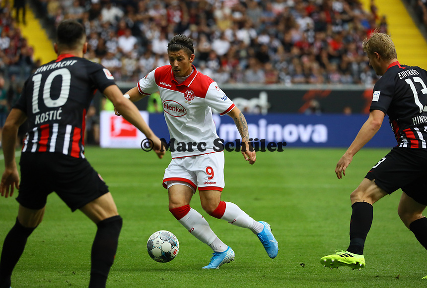 David Kownacki (Fortuna Düsseldorf) - 01.09.2019: Eintracht Frankfurt vs. Fortuna Düsseldorf, Commerzbank Arena, 3. Spieltag<br /> DISCLAIMER: DFL regulations prohibit any use of photographs as image sequences and/or quasi-video.