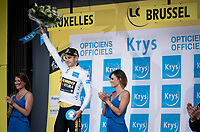 Wout van Aert (BEL/Jumbo - Visma) is the new white jersey wearer / best young rider<br /> <br /> Stage 2 (TTT): Brussels to Brussels (BEL/28km) <br /> 106th Tour de France 2019 (2.UWT)<br /> <br /> ©kramon