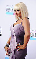 WWW.BLUESTAR-IMAGES.COM  Christina Aguilera attends the 40th Anniversary American Music Awards held at Nokia Theatre L.A. Live on November 18, 2012 in Los Angeles, California..Photo: BlueStar Images/OIC jbm1005  +44 (0)208 445 8588..