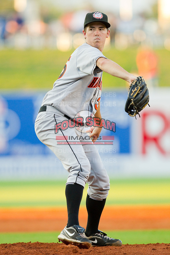 Starting pitcher Paul Applebee #35 of the Hagerstown Suns in action against the Greensboro Grasshoppers at NewBridge Bank Park July 30, 2010, in Greensboro, North Carolina.  Photo by Brian Westerholt / Four Seam Images