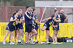Santa Barbara, CA 02/18/12 - The Michigan team looks on at the opening plays of the Michigan-Georgia game at the 2012 Santa Barbara Shootout.