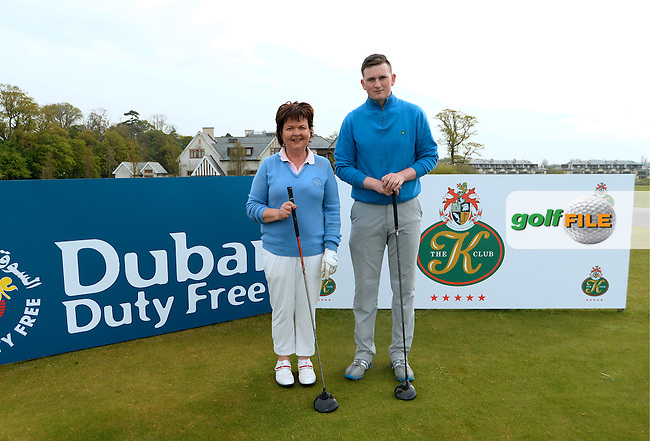 9 May 2016;  Sean Kestell and Annette Lynch, from Charlesland Golf Club. Dubai Duty Free Irish Open - All-Ireland Final for Pro-Am Qualifying Competition. The K Club Smurfit Course, Straffan, Co. Kildare, Ireland. <br /> Picture: Golffile | Caroline Quinn<br /> <br /> All photo usage must carry mandatory copyright credit (&copy; Golffile | Caroline Quinn)