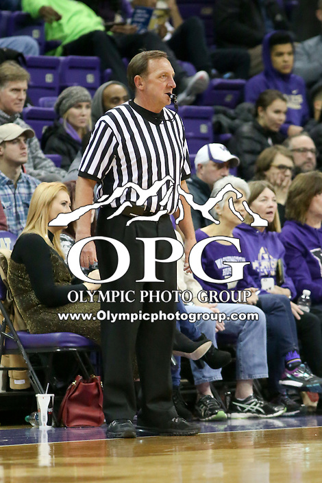 SEATTLE, WA - DECEMBER 18: NCAA basketball official David Hall was on hand for the game between Washington and Western Michigan.  Washington won 92-86 over Western Michigan at Alaska Airlines Arena in Seattle, WA.