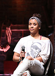 "Sasha Hollinger from the 'Hamilton' cast during a Q & A before The Rockefeller Foundation and The Gilder Lehrman Institute of American History sponsored High School student #EduHam matinee performance of ""Hamilton"" at the Richard Rodgers Theatre on May 24, 2017 in New York City."