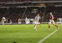 Kenny McLean shoots and scores to restore the lead in the Aberdeen v St Mirren Scottish Communities League Cup match played at Pittodrie Stadium, Aberdeen on 30.10.12.