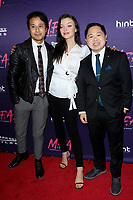 """LOS ANGELES - OCT 2:  David Huynh, Francesca Eastwood, Matthew Moy at the """"M.F.A."""" Premiere at the The London West Hollywood on October 2, 2017 in West Hollywood, CA"""
