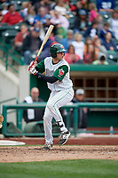 Fort Wayne TinCaps designated hitter Hudson Potts (20) at bat during a game against the Wisconsin Timber Rattlers on May 10, 2017 at Parkview Field in Fort Wayne, Indiana.  Fort Wayne defeated Wisconsin 3-2.  (Mike Janes/Four Seam Images)