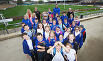 Pupils from Deighton Primary School in Tredegar visiting Rodney Parade.<br /> <br /> 02.10.13<br /> <br /> &copy;Steve Pope-FOTOWALES