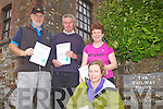 Safely back after taking the Great Southern Trail from Rathkeale which travels the 22 miles route of the old railway to Abbeyfeale, pictured last Saturday was l-r: Liam Downes(Templeglantine), Pat Shanahan(Rathkeale), Mary Scanlon(Glin) and Catherine Chamberlain(Adare).