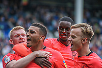 Huddersfield Town's Karlan Grant celebrates scoring the opening goal <br /> <br /> Luke Brennan/CameraSport<br /> <br /> The EFL Sky Bet Championship - Queens Park Rangers v Huddersfield Town - Saturday 10th August 2019 - Loftus Road - London<br /> <br /> World Copyright © 2019 CameraSport. All rights reserved. 43 Linden Ave. Countesthorpe. Leicester. England. LE8 5PG - Tel: +44 (0) 116 277 4147 - admin@camerasport.com - www.camerasport.com