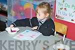 Ciara Kepp enjoying the colours on her first day school..   Copyright Kerry's Eye 2008