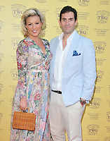 Natalie Rushdie and Zafar Rushdie at the TWG Tea London gala flagship store launch party, TWG Tea Salon &amp; Boutique, Leicester Square, London, England, UK, on Monday 02 July 2018.<br /> CAP/CAN<br /> &copy;CAN/Capital Pictures