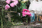 Offerings at St Non's holy well, St Davids Pembrokeshire Wales