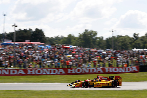 Verizon IndyCar Series<br /> Honda Indy 200 at Mid-Ohio<br /> Mid-Ohio Sports Car Course, Lexington, OH USA<br /> Sunday 30 July 2017<br /> Ryan Hunter-Reay, Andretti Autosport Honda<br /> World Copyright: Michael L. Levitt<br /> LAT Images