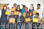 Women from KASI who received their certificates after completing the Kerry County Childcare Language and Play course in Killarney on Monday front row l-r: Sarah Osei, Hannah Warwick Kerry County Childcare, Seline Dube, Oreofe Obamikoro. Back row: Joni Kelly KASI, Honsneara Parvin, Louise Kamau, Emmy Buyoya, Mary and Veronica Ojegbenro, Viktomia Vasiluk and Abeke Ajobo