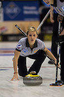 Glasgow. SCOTLAND.   Russia's Galina ARSENKINA, during the  &quot;Round Robin&quot; Game. CZE vs RUS, Le Gruy&egrave;re European Curling Championships. 2016 Venue, Braehead  Scotland<br /> Monday  21/11/2016<br /> <br /> [Mandatory Credit; Peter Spurrier/Intersport-images]