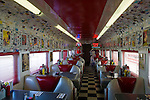 1950's style Rock n' Roll Diner in an old converted train car coach, Oceano, California