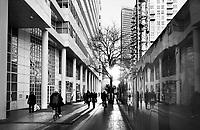 Nederland - Den Haag-  2018.  Straatbeeld Den Haag Centrum. Het Wijnhavenkwartier. Links het Stadhuis.   Foto Berlinda van Dam / Hollandse Hoogte