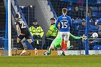 Michael Harriman of Northampton Town left scores the first goal during Portsmouth vs Northampton Town, Leasing.com Trophy Football at Fratton Park on 3rd December 2019