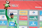 Alejandro Valvede (ESP) Movistar Team retains the Green Jersey at the end of Stage 20 of the La Vuelta 2018, running 97.3km from Andorra Escaldes-Engordany to Coll de la Gallina, Spain. 15th September 2018.                   <br /> Picture: Unipublic/Photogomezsport | Cyclefile<br /> <br /> <br /> All photos usage must carry mandatory copyright credit (&copy; Cyclefile | Unipublic/Photogomezsport)