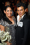 Enid Sanchez and her brother Edward Sanchez at the Health Museum Casino Party at the Four Seasons Hotel Saturday Aug. 15, 2009.(Dave Rossman/For the Chronicle)