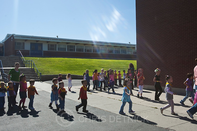 Chris Detrick  |  The Salt Lake Tribune.Students take part in a fire drill at Lake Ridge Elementary Thursday October 13, 2011.  The school has fire, earthquake and lock-down drills throughout the year.