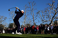 Rory McIlroy (NIR) In action on the 17th tee during the second round of the The Genesis Invitational, Riviera Country Club, Pacific Palisades, Los Angeles, USA. 13/02/2020<br />