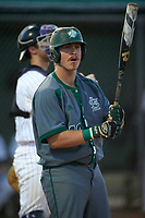Saint Leo Lions designated hitter Shane Williams (40) at bat during a game against the Northwestern Wildcats on March 4, 2016 at North Charlotte Regional Park in Port Charlotte, Florida.  Saint Leo defeated Northwestern 5-3.  (Mike Janes/Four Seam Images)