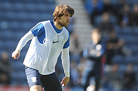 Preston North End's Ben Pearson during the pre-match warm-up <br /> <br /> Photographer Kevin Barnes/CameraSport<br /> <br /> The EFL Sky Bet Championship - Preston North End v Sheffield United - Saturday 6th April 2019 - Deepdale Stadium - Preston<br /> <br /> World Copyright © 2019 CameraSport. All rights reserved. 43 Linden Ave. Countesthorpe. Leicester. England. LE8 5PG - Tel: +44 (0) 116 277 4147 - admin@camerasport.com - www.camerasport.com