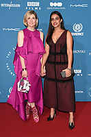LONDON, UK. December 02, 2018: Jodie Whittaker & Mandip Gill at the British Independent Film Awards 2018 at Old Billingsgate, London.<br /> Picture: Steve Vas/Featureflash