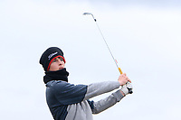 Luke O'Neill (Connemara) on the 16th tee during the Final Round of the Connacht U18 Boys Open 2018 on Carne Golf Links at Belmullet Golf Club on Sunday 6th April 2018.<br /> Picture:  Thos Caffrey / www.golffile.ie<br /> <br /> All photo usage must carry mandatory copyright credit (&copy; Golffile | Thos Caffrey)