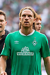 01.09.2019, wohninvest Weserstadion, Bremen, GER, 1.FBL, Werder Bremen vs FC Augsburg, <br /> <br /> DFL REGULATIONS PROHIBIT ANY USE OF PHOTOGRAPHS AS IMAGE SEQUENCES AND/OR QUASI-VIDEO.<br /> <br />  im Bild<br /> <br /> Michael Lang (Werder Bremen #04) mit dicken linken Auge<br /> <br /> Foto © nordphoto / Kokenge