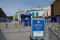 9th May 2020, Stamford Bridge Stadium, Chelsea, London, England; Stadium deserted during the lockdown for the Covid-19 virus