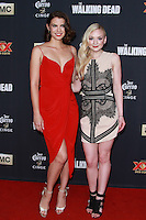 UNIVERSAL CITY, CA, USA - OCTOBER 02: Lauren Cohan, Emily Kinney arrive at the Los Angeles Premiere Of AMC's 'The Walking Dead' Season 5 held at AMC Universal City Walk on October 2, 2014 in Universal City, California, United States. (Photo by David Acosta/Celebrity Monitor)