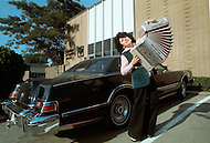Nashville, Tennessee - June 10, 1977. This photograph was taken of Yvette Horner outside the recording studio in Nashville, Tennessee, where she was set to play at the Ole Opry. Yvette Horner (born September 22nd, 1922) is a renown French accordionist, whose career has spanned over 70 years, has given thousands of concerts around the world and sold over 30 million records.