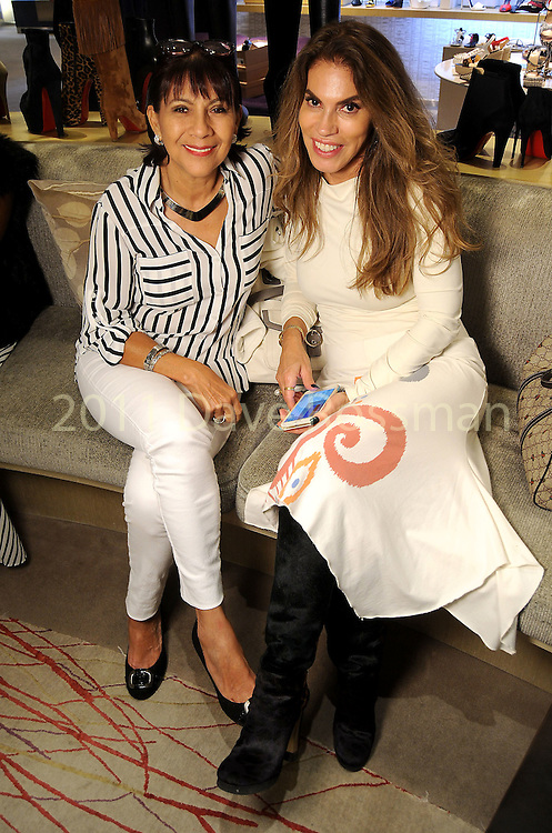 Lucy Scott and Zayda Ralph at a Dress for Dinner event featuring shoe designer Edgardo Osorio at Saks Fifth Avenue Wednesday Oct. 28, 2015.(Dave Rossman photo)