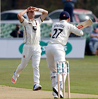 Matt Henry of Kent shows his frustration during the County Championship Division 2 game between Kent and Gloucestershire at the St Lawrence Ground, Canterbury, on Fri 13 Apr, 2018.
