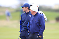 Rory McIlroy (NIR) and Gerry McIlroy (AM) on the 15th during Round 4 of the Alfred Dunhill Links Championship 2019 at St. Andrews Golf CLub, Fife, Scotland. 29/09/2019.<br /> Picture Thos Caffrey / Golffile.ie<br /> <br /> All photo usage must carry mandatory copyright credit (© Golffile | Thos Caffrey)
