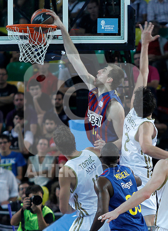 FC Barcelona Regal's Fran Vazquez during Supercopa ACB Semifinal match.September 30,2011. (ALTERPHOTOS/Acero)