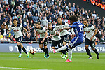 Chelsea's Willian scoring his sides second goal during the FA Cup Semi Final match at Wembley Stadium, London. Picture date: April 22nd, 2017. Pic credit should read: David Klein/Sportimage