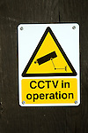 CCTV cameras in operation sign