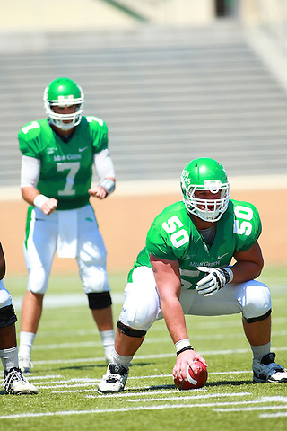 Denton, TX - APRIL 13: The University of North Texas Mean Green, Green & White Spring game at Apogee Stadium in Denton on April 13, 2013 in Denton, Texas. (Photo by Rick Yeatts)