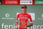 Luis Angel Mate Mardones (ESP) Cofidis wins the day's combativity award on the podium at the end of Stage 14 of the 2017 La Vuelta, running 175km from &Eacute;cija to Sierra de La Pandera, Spain. 2nd September 2017.<br /> Picture: Unipublic/&copy;photogomezsport | Cyclefile<br /> <br /> <br /> All photos usage must carry mandatory copyright credit (&copy; Cyclefile | Unipublic/&copy;photogomezsport)