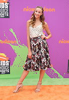 LOS ANGELES, CA July 13- Ava Cota, At Nickelodeon Kids' Choice Sports Awards 2017 at The Pauley Pavilion, California on July 13, 2017. Credit: Faye Sadou/MediaPunch