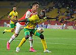Independiente Santa Fe derrotó a Atlético Huila por marcador de 1-0 gol en partido aplazado por la fecha 8 de la Liga Aguila I 2016 jugado en el estadio Nemesio Camacho El Campin de la ciudad de Bogota