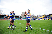 Ben Tapuai of Bath Rugby acknowledges the crowd after the match. Aviva Premiership match, between Bath Rugby and Saracens on December 3, 2016 at the Recreation Ground in Bath, England. Photo by: Patrick Khachfe / Onside Images